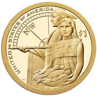 2014 Native American $1 Coin - Lewis & Clark Expedition (D)